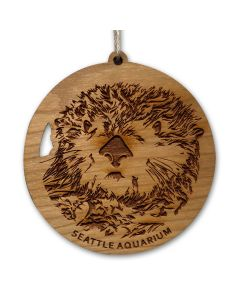 Wooden Sea Otter Ornament